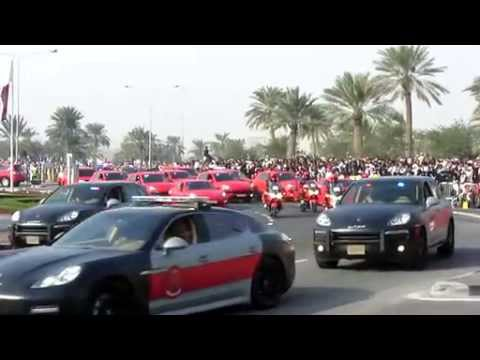 Porsche Police Cars Parade in Qatar