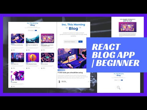 Build a Blog App with React | React Tutorial for Beginners