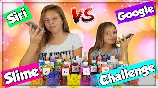 GOOGLE VS SIRI 3 COLORS OF GLUE SLIME CHALLENGE ! en français