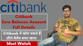 Citibank Zero Balance Account (Full Details) Features & Facilities | Citibank BSBDA & Small Account