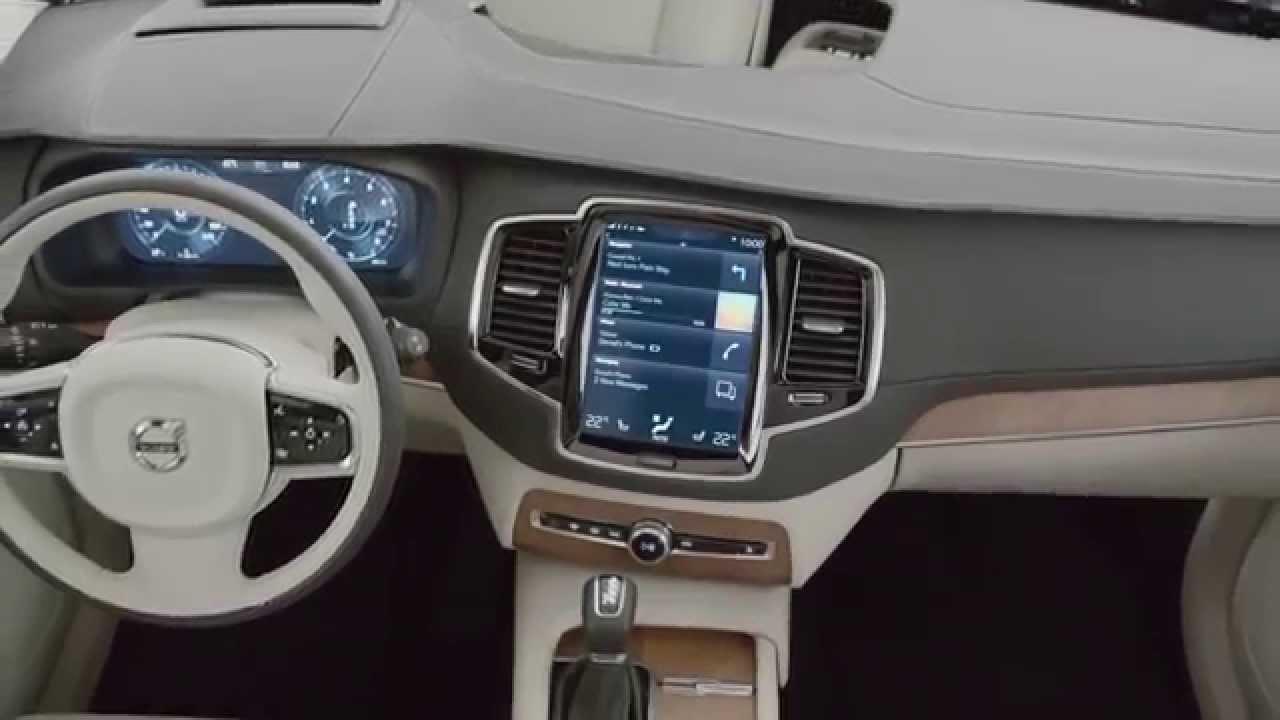 Zupełnie Nowe Volvo Xc90 Wnętrze Youtube
