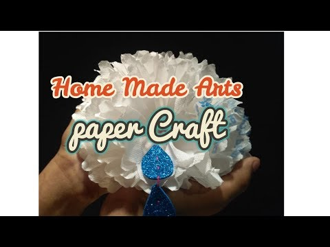 Small Tissue Paper Flower - Simple tutorial for how to make tiny tissue paper flowers