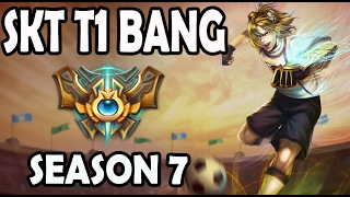 SKT T1 Bang plays EZREAL vs TWITCH ADC Ranked Challenger Korea