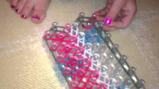Christmas Rainbow Loom Bracelet Part 4