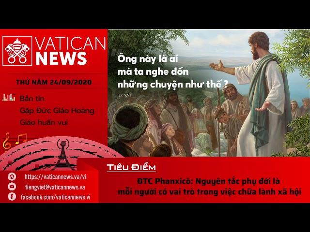 Radio: Vatican News Tiếng Việt 24/09/2020