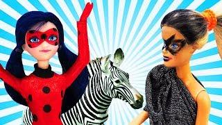 Леди Баг и Барби: акума в зоопарке. Игры для детей.