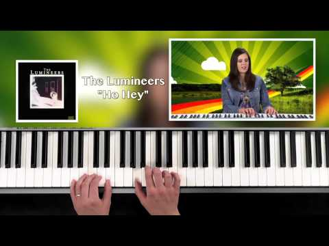 "Learn how to play ""Ho Hey"" by The Lumineers! Easy piano tutorial!"