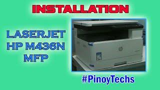 Laserjet HP M436N MFP | Installation & Testing | @PinoyTechs | A3 Size Multifunction Printer