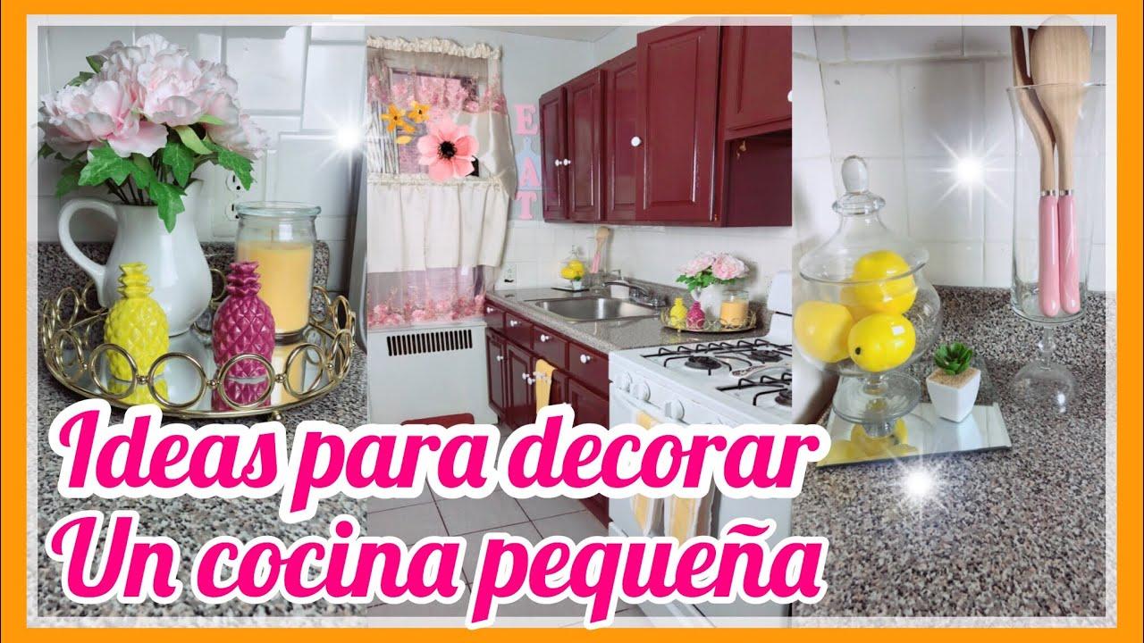 MI COCINA/COMO DECORAR UNA COCINA PEQUEÑA/IDEAS PARA DECORAR ...