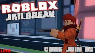 Roblox Jailbreak Live 🔴| Schleifen für Bargeld und andere Spiele| Kommen Sie zu mir! 😄