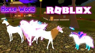 ROBLOX HORSE WORLD PRETTY PINK PRINCESS PONY! NEON GUMMIBÄRCHEN CLOWN! Mein OC 🐴🦄 ART in HORSES!