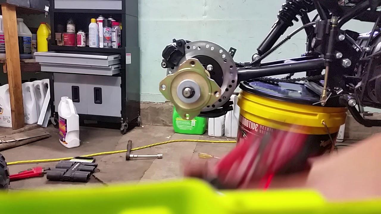 Tao Tao Chinese Cheetah 125cc atv Part #2 disassembling rear end axle