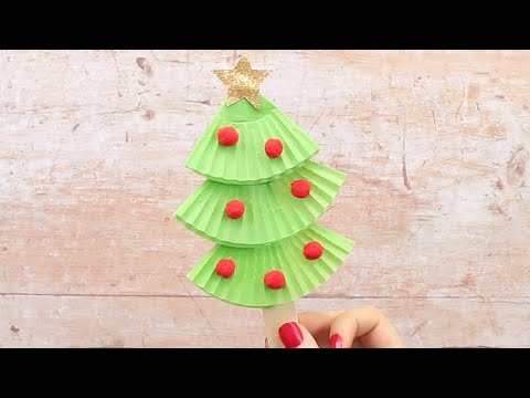 cupcake-liners-christmas-tree-craft-for-kids-easy