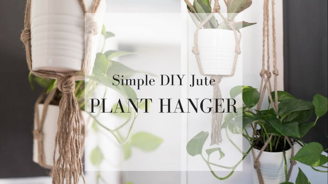 Simple Diy Plant Hanger Beginner Macrame