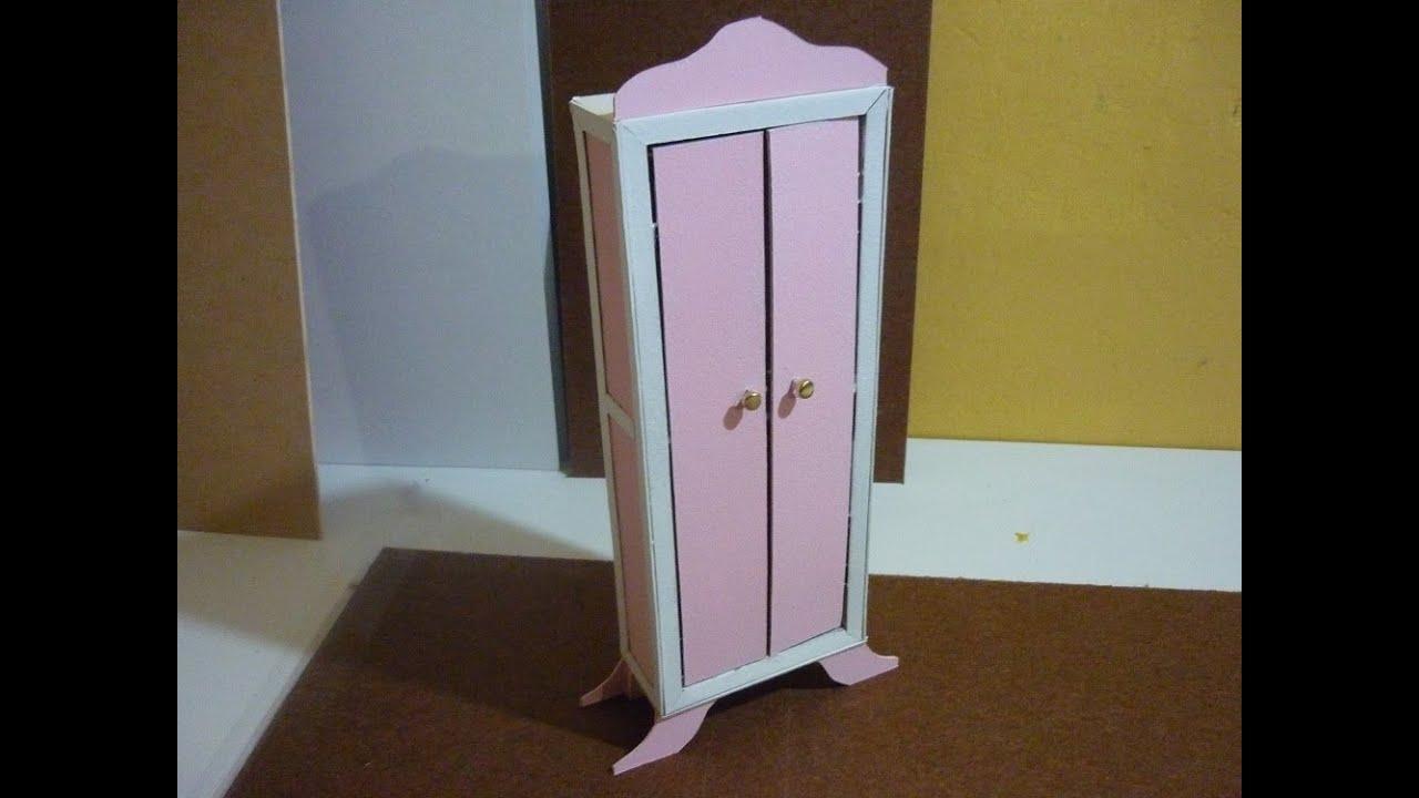Como hacer un mueble para mu ecas de papel cascaron parte - Como se hace una casa de madera ...