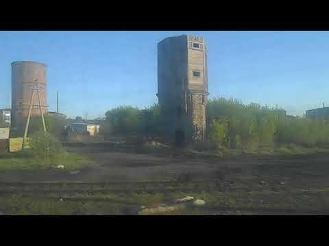 Поезд прибыл на станцию Петухово на границе России с Казахстаном