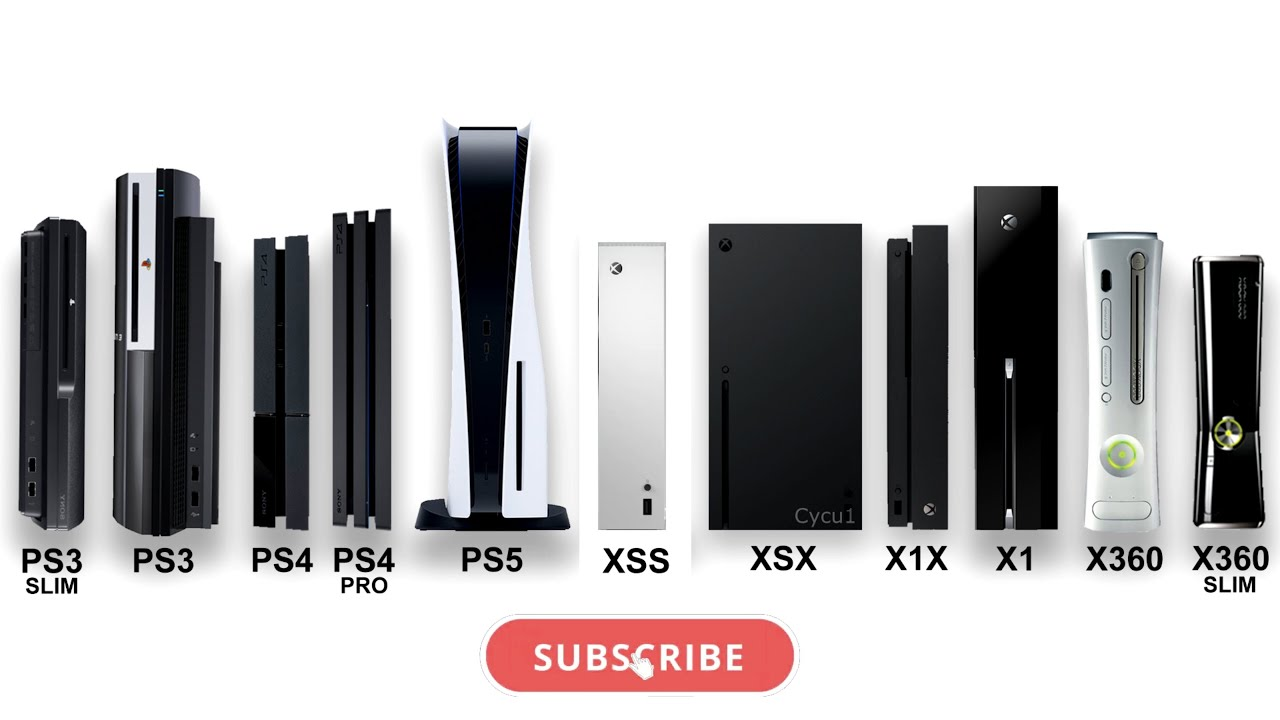 Xbox Series S Series X Ps5 Ps4 Ps3 Xbox One Console Size Comparison Youtube