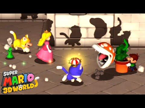 【4人実況】仲間割れするおもしろ砂漠ステージ『 スーパーマリオ 3Dワールド 』#2