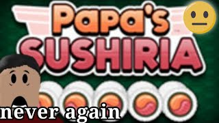 A Roblox Player Plays Papa's Sushieria