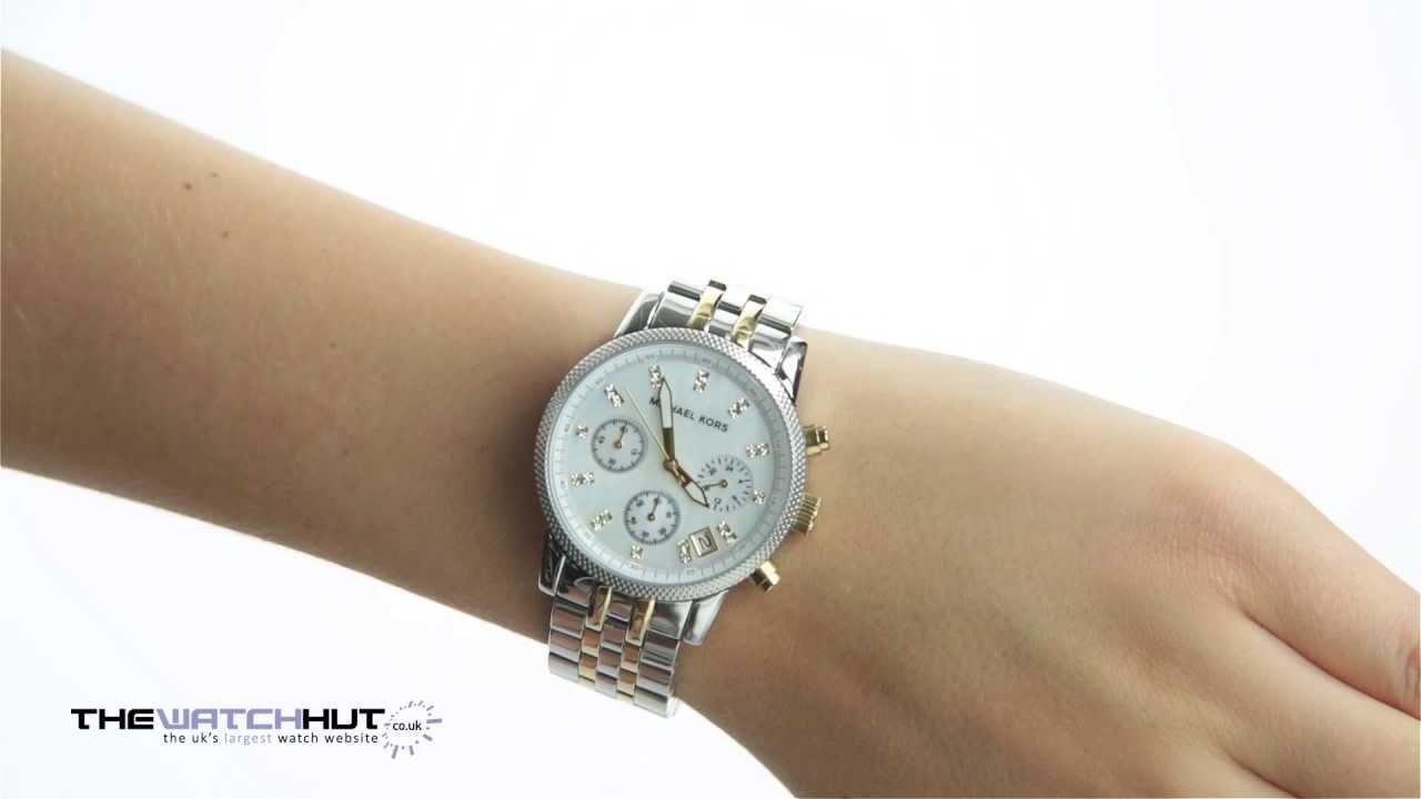 9626c84bf Michael Kors Ladies Chronograph Watch MK5057 - YouTube