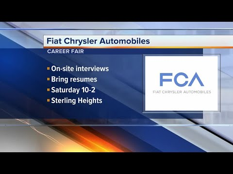 Fiat Chrysler Automobiles career fair at Sterling Heights Assembly Plant