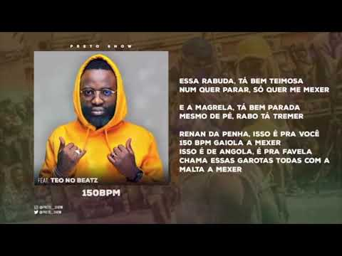 Preto Show ft. Teo No Beat - 150 BPM (Acapella) [2019 DOWNLOAD]