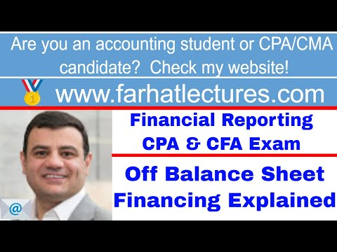 Off balance sheet financing ch 11 p 4