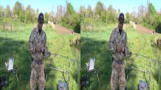 Ловля на фидер карпа и карася.3D видео.Sony HDR-TD10E(Киевская область Обуховский район.База-