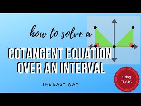Math Analysis - Trigonometric Equation - Interval - Cotangent
