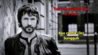 You're beautiful - James Blunt  Lirik Lagu & Terjemahan Bahasa Indonesia
