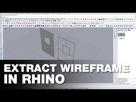 How to Extract Wireframe in Rhino - YouTube