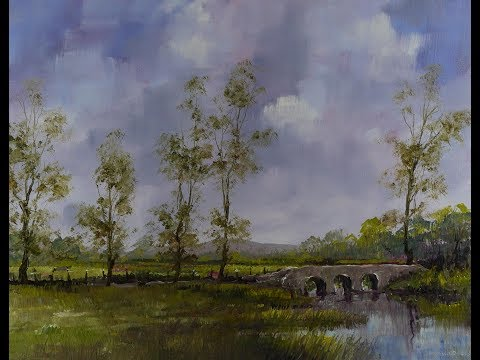 Kilkea Castle Bridge – Time Lapse Painting