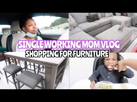 SINGLE WORKING MOM VLOG: AFFORDABLE FURNITURE SHOPPING