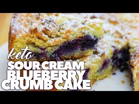 Sour Cream Blueberry Crumb Cake | Keto & Low Carb | Keto Desserts | CarnalDish