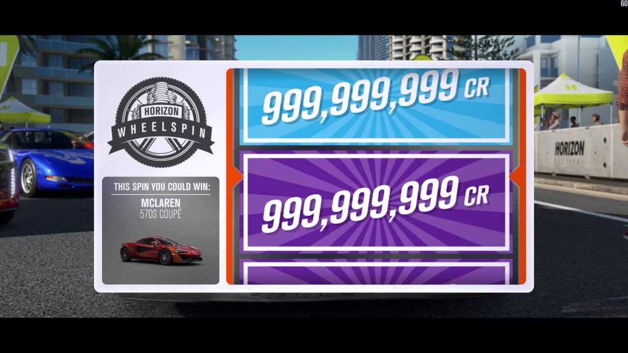 Forza Horizon 3's 999,999,999 wheelspin glitch threatens in