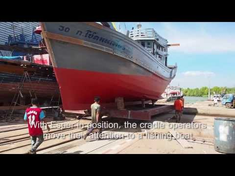 Hauling Sail Boat And Launching Fishing Boat In Satun, Thailand
