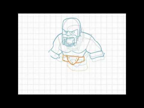 Comment Dessiner Le Barbare De Clash Of Clans Youtube