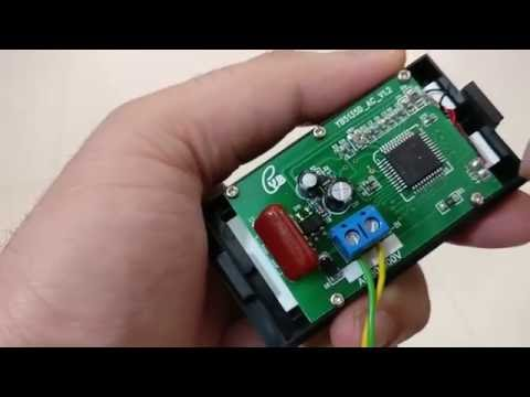 Digital Voltmeter Panel AC 80-500V - YouTube on