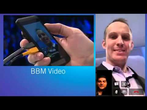 BlackBerry 10 BBM Video Chat Unveiling From Launch Event Keynote