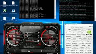 Ethereum mining with 2 GeForce GTX 1070 68,3 MHs Modded Drivers February 2018