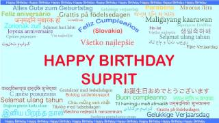 Suprit   Languages Idiomas - Happy Birthday