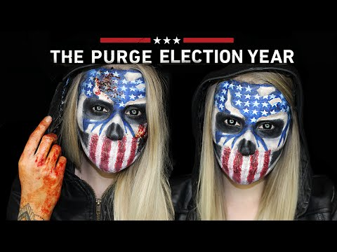 The Purge Election Year Halloween Makeup Tutorial | THE PURGE MINI SERIES