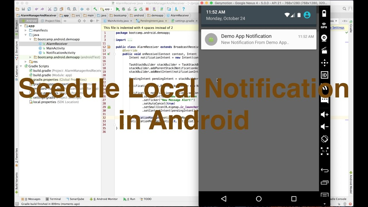 Schedule local notification in android || Ajit Singh