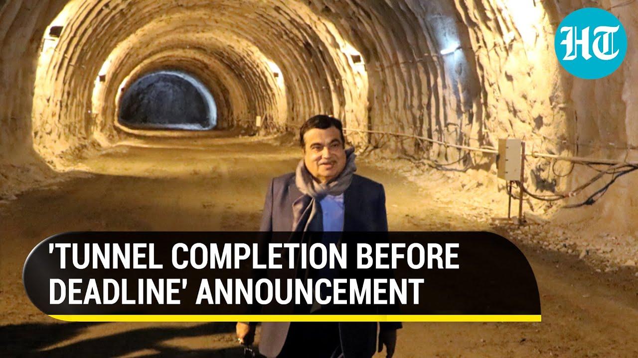 Download 'Asia's longest tunnel': Nitin Gadkari reviews Zojila, Z-Morh tunnel construction progress in J&K