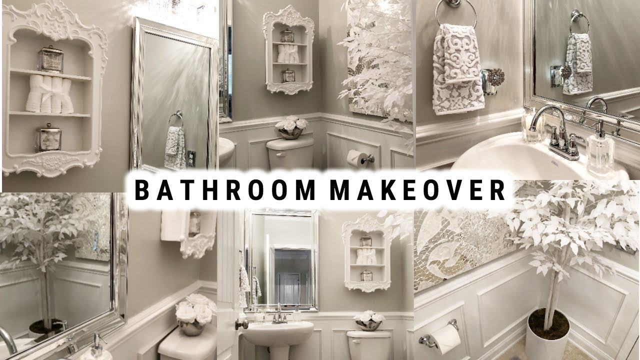 Diy Small Bathroom Makeover Glamorous Ideas On A Budget Before And After