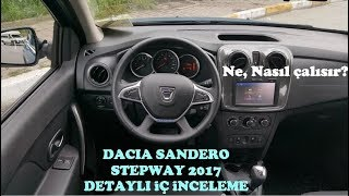 Dacia Sandero Stepway Easy-R 2017 Detaylı İç inceleme