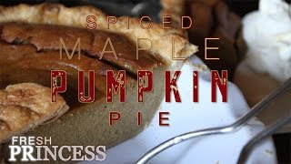 Spiced Maple Pumpkin Pie | Fresh P