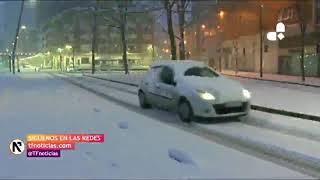 La nieve cubre Bilbao