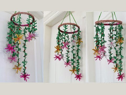 Newspaper Wind Chime | Newspaper Crafts Wall Hanging Easy At Home | Best out of Waste
