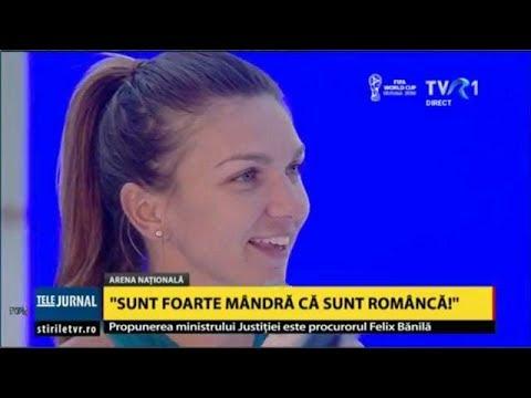Imnul României pe Arena Naţională, pentru Simona Halep, câştigătoarea Roland Garros 2018